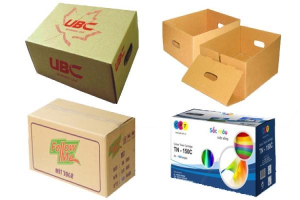 Bao bì giấy dạng thùng carton