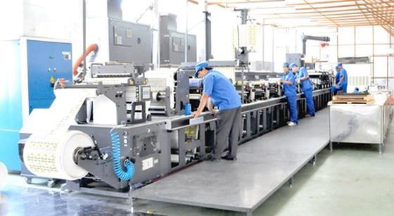 Hình ảnh quy trình in flexo trong một công ty